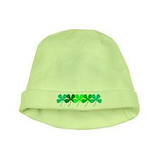 Irish Green 4 Clovers St. Patricks Day Baby Hat