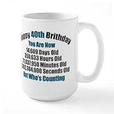 40th Birthday T-shirt Mug