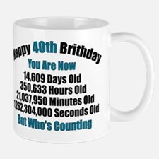 40th Birthday T-shirt Mug