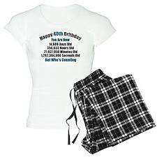 40th Birthday T-shirt Pajamas