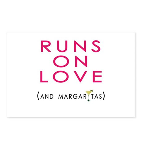 Runs On Love (and margaritas) Postcards (Package o