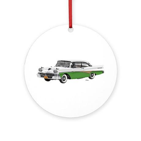 1958 Ford Fairlane 500 White & Light Green Ornamen