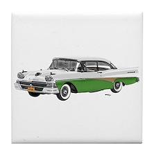 1958 Ford Fairlane 500 White & Light Green Tile Co
