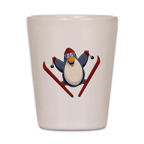 Ski Penguin Shot Glass