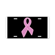 Cute Breast cancer awareness Aluminum License Plate