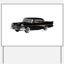 1958 Ford Fairlane 500 Black Yard Sign