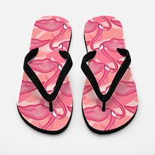 Pink Flamingo Flip Flops