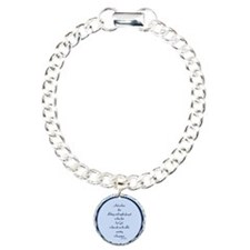 Romans 8 28 Bible Verse blue Bracelet