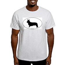 CW Corgi Silhouette Ash Grey T-Shirt