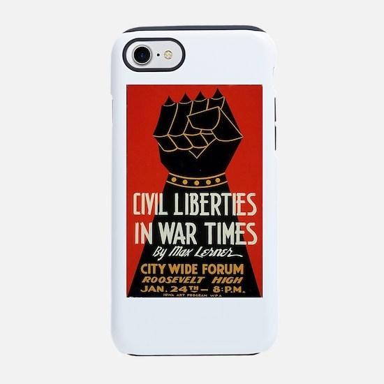 Civil Liberties Black Fist iPhone 7 Tough Case