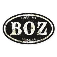 Bozeman Black Grunge Decal
