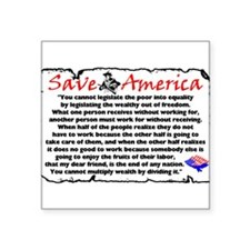 """Save America"" Rectangle Sticker"