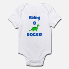 Being 8 Rocks! Dinosaur Infant Bodysuit