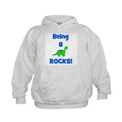 Being 8 Rocks! Dinosaur Hoodie