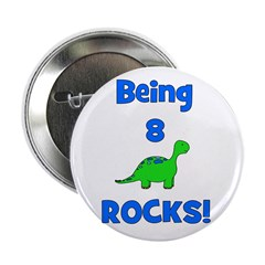 Being 8 Rocks! Dinosaur Button