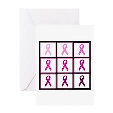 pink ribbon quadd Greeting Card