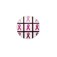 pink ribbon quadd Mini Button (10 pack)