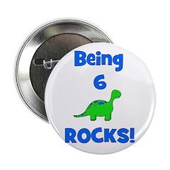 Being 6 Rocks! Dinosaur Button