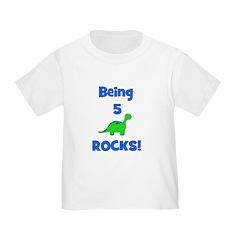 Being 5 Rocks! Dinosaur T