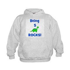 Being 5 Rocks! Dinosaur Hoodie