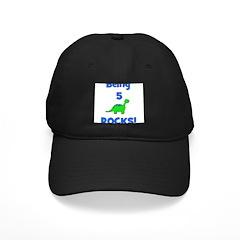 Being 5 Rocks! Dinosaur Baseball Hat