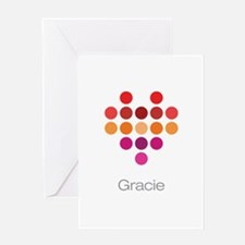 I Heart Gracie Greeting Card