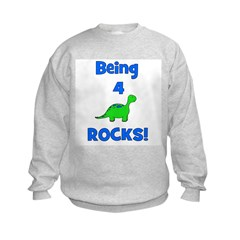 Being 4 Rocks! Dinosaur Sweatshirt