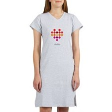 I Heart Hallie Women's Nightshirt