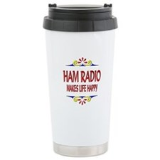 Ham Radio Life Happy Travel Mug