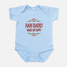 Ham Radio Life Happy Infant Bodysuit