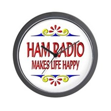Ham Radio Life Happy Wall Clock