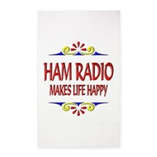Ham Radio Life Happy 3'x5' Area Rug