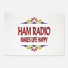 Ham Radio Life Happy 5'x7'Area Rug