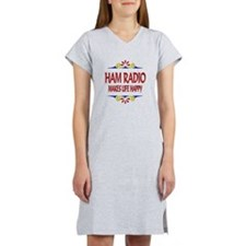 Ham Radio Life Happy Women's Nightshirt