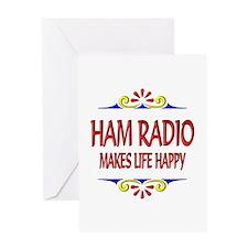 Ham Radio Life Happy Greeting Card