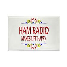 Ham Radio Life Happy Rectangle Magnet