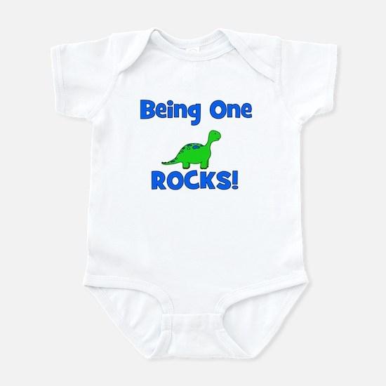 Being One Rocks! Dinosaur Infant Bodysuit