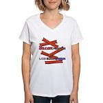 B4P - Lard Bless America Women's V-Neck T-Shirt