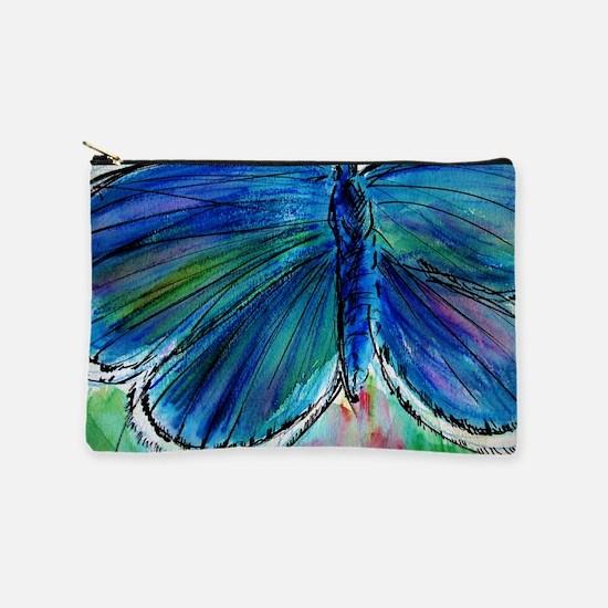 Blue Butterfly! Nature art! Makeup Pouch