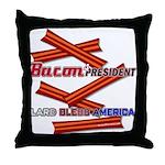 B4P - Lard Bless America Throw Pillow