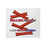 B4P - Lard Bless America Throw Blanket