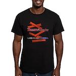 B4P - Lard Bless America Men's Fitted T-Shirt (dar