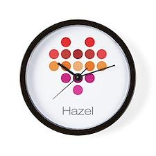 I Heart Hazel Wall Clock
