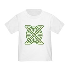 Celtic knot square orange and green T-Shirt