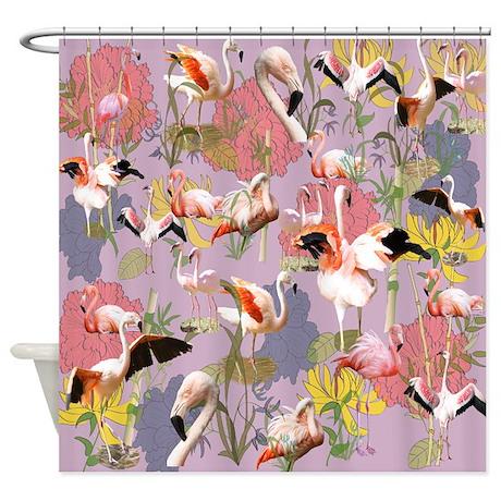 Flamingo Collage Shower Curtain