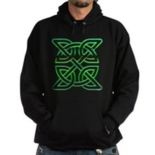 Celtic knot square green Hoody