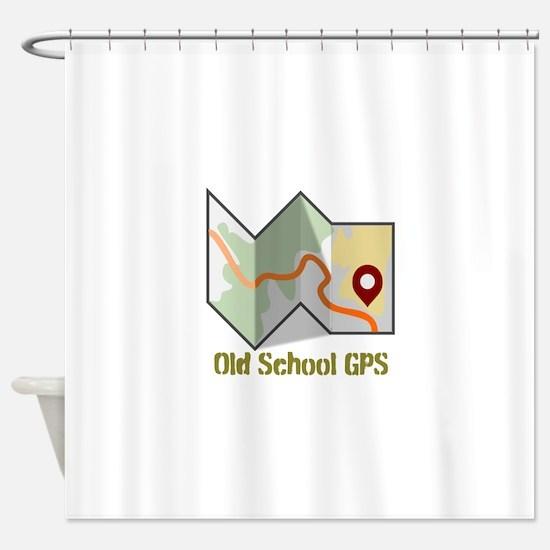 Cute Gps Shower Curtain