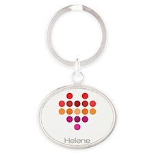 I Heart Helene Oval Keychain