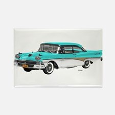 1958 Ford Fairlane 500 Light Blue & White Rectangl