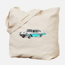 1958 Ford Fairlane 500 White & Light Blue Tote Bag